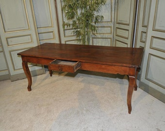 Antique French Farm Table RARE SPECIAL Cherry Wood Model Dining Extensions 19th Century #7010
