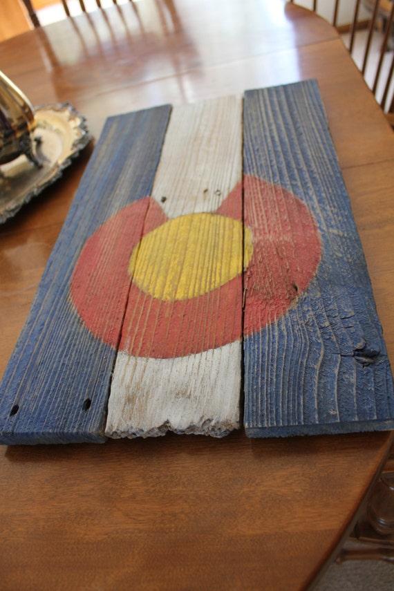 Reclaimed wood Colorado flag sign- Home Decor - Reclaimed Wood Colorado Flag Sign Home Decor