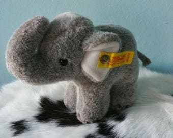 Steiff gray elephant! Stuffed elephant collectible 1451/12 Steiff