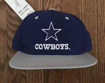 Vintage 90s Deadstock Dallas Cowboys NFL Snapback Hat Baseball Cap