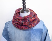 Hand Knit Autumnal Cowl -...