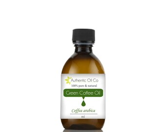Green Coffee Oil ( Cold pressed ) Various sizes  10ml 50ml 100ml 250ml 500ml 1 litre
