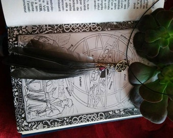 Smudging fan necklace #2
