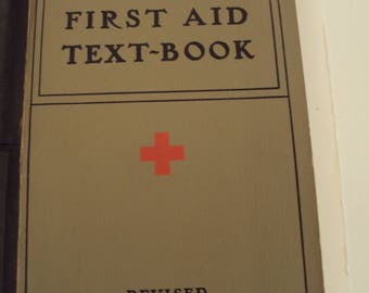 American Red Cross First Aid Text Book 1940