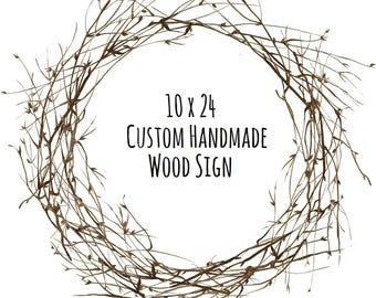 Custom Wood Sign - Personalized Wood Sign - Custom Signs for Home - Rustic Wood Signs - Custom Sign - 10 x 24 - Handmade Sign