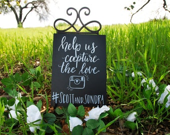 Personalized Hashtag Sign