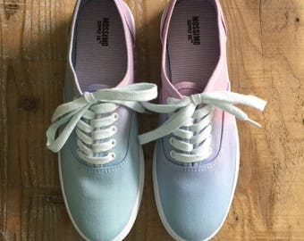 Hand Dyed, US Women's Size 7 Canvas Sneakers