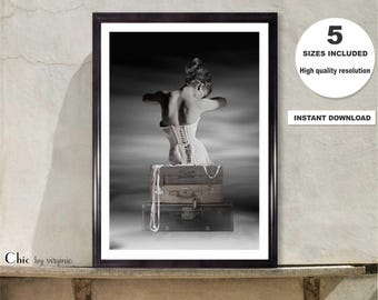 Horst Corset Print, Instant Download, Horst 1939 Photography, Original Art, Fashion Wall Art, Printable Art, Vogue photographer