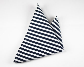 Fabric Pocket clutches BlueStripes