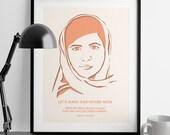 Nevertheless She Persisted - Malala Yousafzai - Girl Power - Feminist Gifts - Home Decor - Girl Boss - Feminism Quotes - Wedding Gift