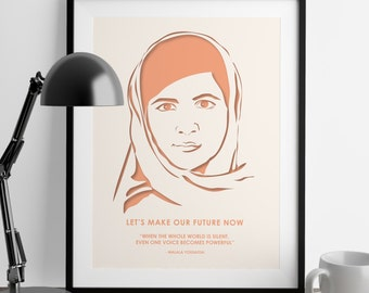 Nevertheless She Persisted - Malala Yousafzai - Girl Power - Feminist Gifts - Home Decor - Girl Boss - Feminism Quotes - Wedding Gift