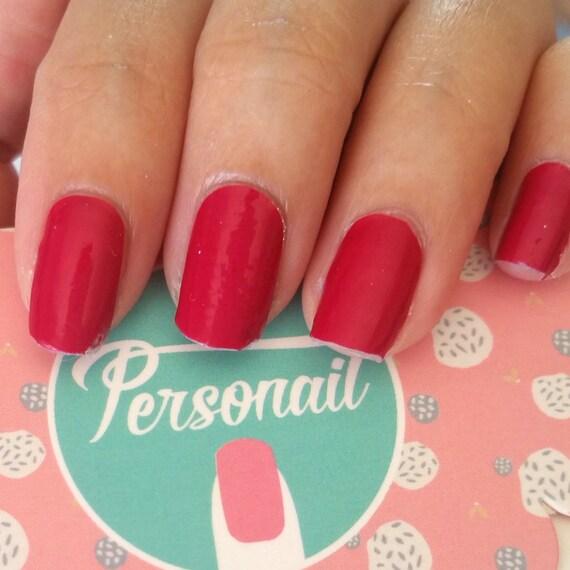Ruby Nail Polish: Ruby Red Nail Polish Wraps From ItsPersonail On Etsy Studio