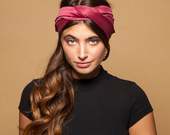 Headband Women Turban Headband Headwrap Wine Turban Elegant Headband Women Women Headband Turban Headband  Hair Accessoeies Twisted Headband