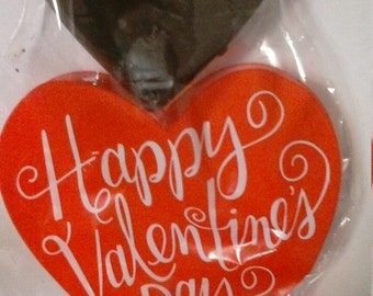 vegan valentine large chocolate heart 6 ounces solid chocolate high quality gluten free dairy free no animal products
