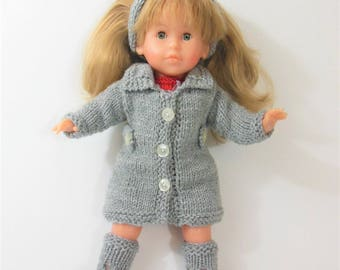 Jacket, hat and BEIGE for doll shoes
