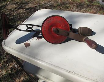 Antique Goodell Pratt Toolsmiths Co Hand Drill Press, Breast/Shoulder, 2 Speed