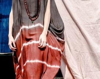 Women long tunic dress cotton blouse silk cotton dress long dress summer dress large size dress plus size clothing maxi dress women dress