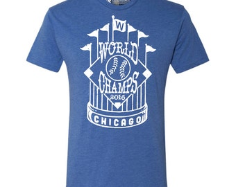 Chicago Championship Trophy- Chicago Cubs Shirt - Cubs shirt - Cubs vintage - World Series shirt - Chicago shirt - Mens Shirt - Womens Shirt