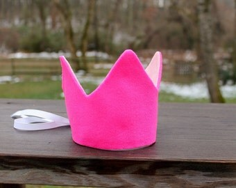Girl's birthday crown, first birthday crown, valentine's day crown, dress-up crown, reversible crown