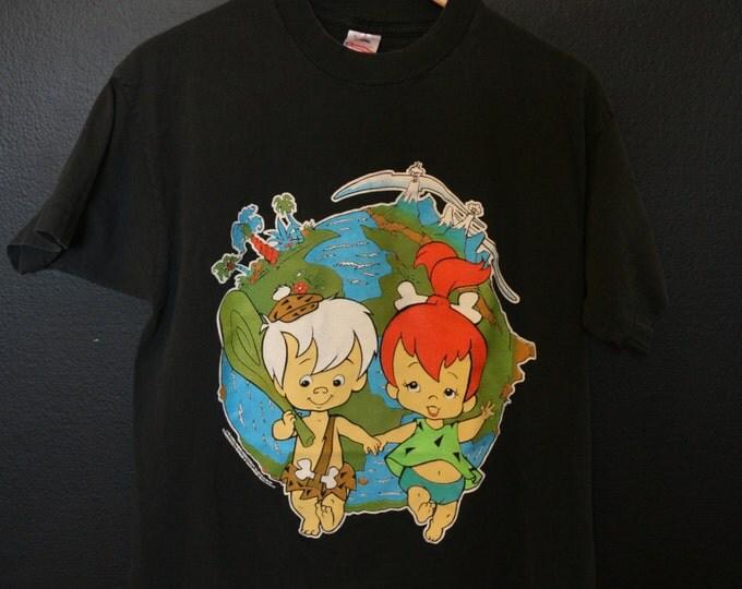 Flintstones Pebble & BamBam vintage 1994 Tshirt