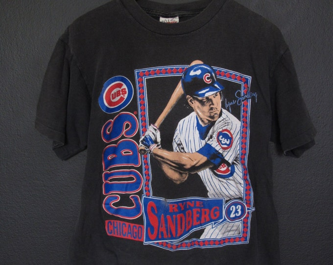 MLB Ryne Sandberg Chicago Cubs 1990 Vintage Tshirt