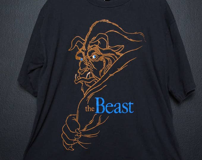 Disney Beauty & The Beast 1990's vintage Tshirt