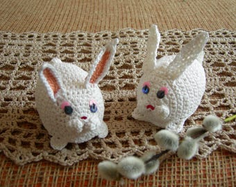 Easter bunnies - Еaster decoration - Easter egg cover -Crochet bunnies - Easter gift