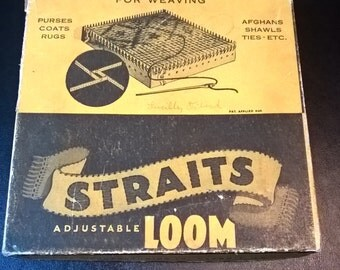 Vintage Straits Adjustable Weaving Loom  **FREE SHIPPING**