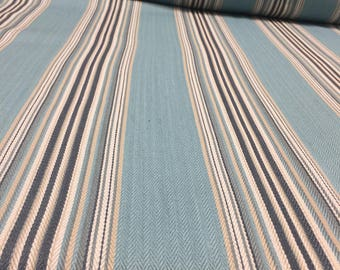 Matters edge herringbone Light Blue chenille upholstery fabric by the yard