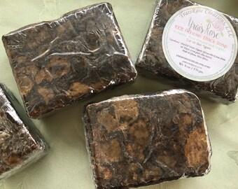 Natural African Black Soap Artisanal Soap Unscented