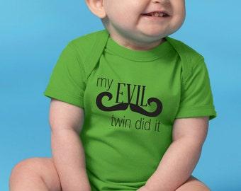 My Evil Twin Did It onesie