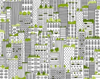 1/2 yd City Life ROOFTOP GARDENS by Ink & Arrow Fabric 24300 -Z