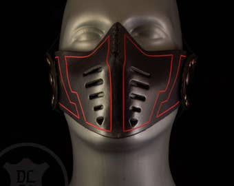 Leather Voltage Mask