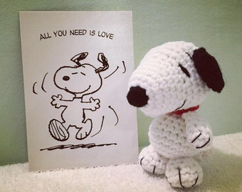 Crochet Snoopy Amigurumi Toy, Peanuts Snoopy Crochet Plushie, Crochet Beagle