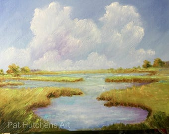 "gift/ Carolina on My Mind/ James Taylor, ""Carolina in My Mind""/ landscape/Marsh/Wetlands/ marshlands/outer banks/ water landscape/"