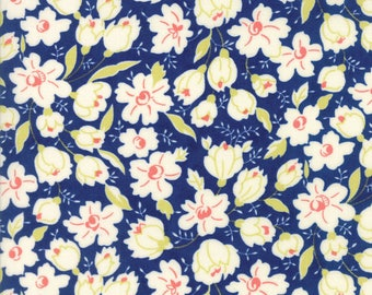 Moda Coney Island Quilt Fabric 1/2 Yard By Fig Tree & Co Midnight Blue 20285 11