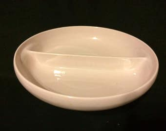 IRIQUOIS CASUAL CHINA- Russel Wright- Divided Serving Bowl-Vintage