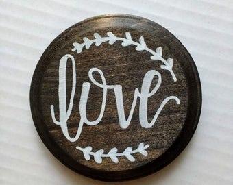 Love - Round Sign