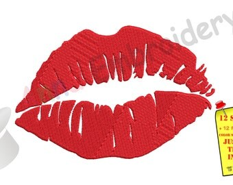 Red Lips Embroidery Design-Woman Lips Pattern-Instant Download-PES