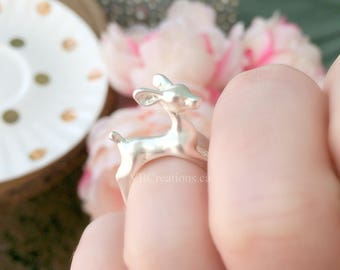 Bambi Ring - Deer Ring - Fawn - Deer Head - Disney Ring - Disney Jewelry - Original - Matt Silver Ring - Best Friend Gift - Gift for her
