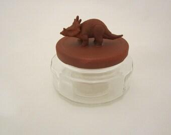 Rust Triceratops Jar