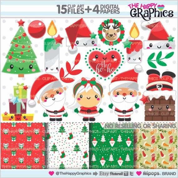 christmas clipart etsy - photo #27