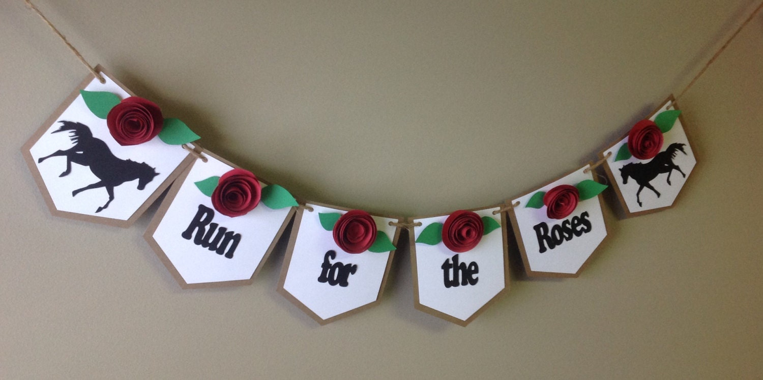 kentucky derby banner ready to ship run for the roses