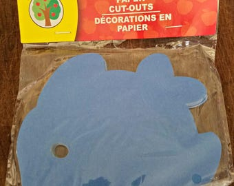 Blue Fish Paper Cut-Outs / Ready To Ship