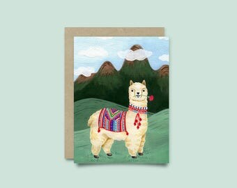 Greeting Card Alpaca