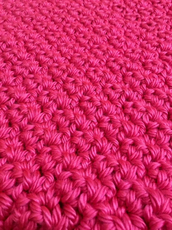 Diagonally Crocheted Moss Stitch Baby Blanket Pattern from ...