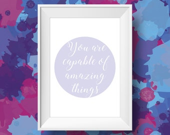 Amazing Things Quote - Inspiring Quote Print