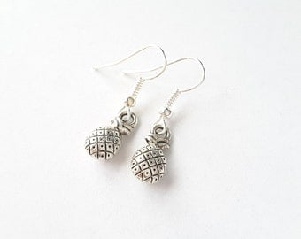 Small Pineapple Drops . Earrings . Tropical Jewelry