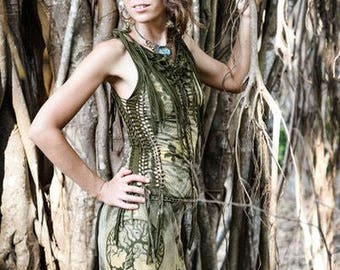 Freaky forest braided dress