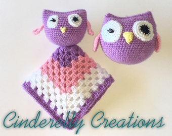 Crochet Owl Snuggle Set